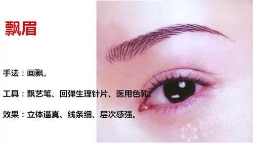 绣眉,植眉,雕眉和韩式半永久定妆眉的区别