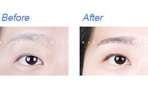 韩式纹眉对比照
